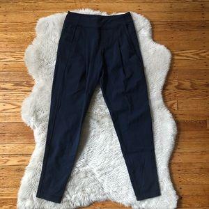 Lululemon Navy Blue Pleated Pull-On Pants